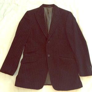Banana Republic Black Men's Flannel Blazer 40R